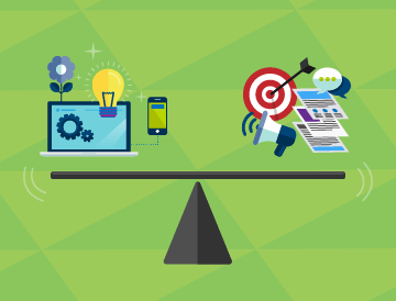 product management green background balance beam 360x274