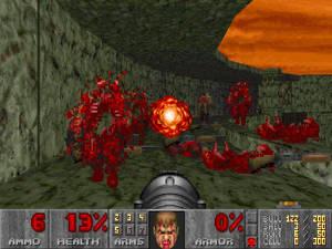 Tidiga FPS som Doom försökte förtydliga skadors effekt genom att visa ditt ansikte.