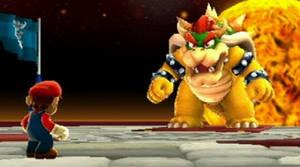 Bowser tornar upp sig framför Mario - men borde veta vid det här laget att han kommer att åka på spö.