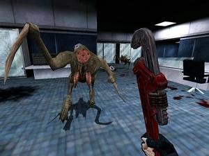 'Jag har stulit från Aliens under hela min karriär', erkände Pitchford. Ovan Half-Life: Opposing Force.