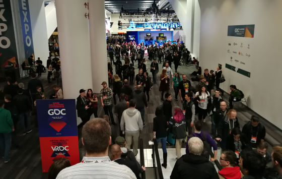 GDC 18 - people from the stairs