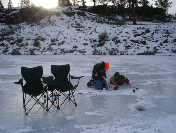 ice fishing lawn chair outdoor rocking set some simple methods to the cold madness of chairs add comfort but a 5 gallon bucket will suffice and it