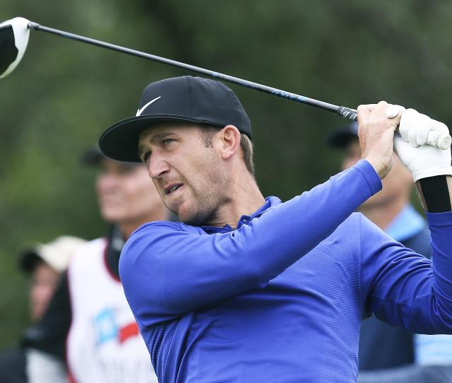 Kevin Chappell Hits Into The Wind On The Th Tee During The Third Round Of The