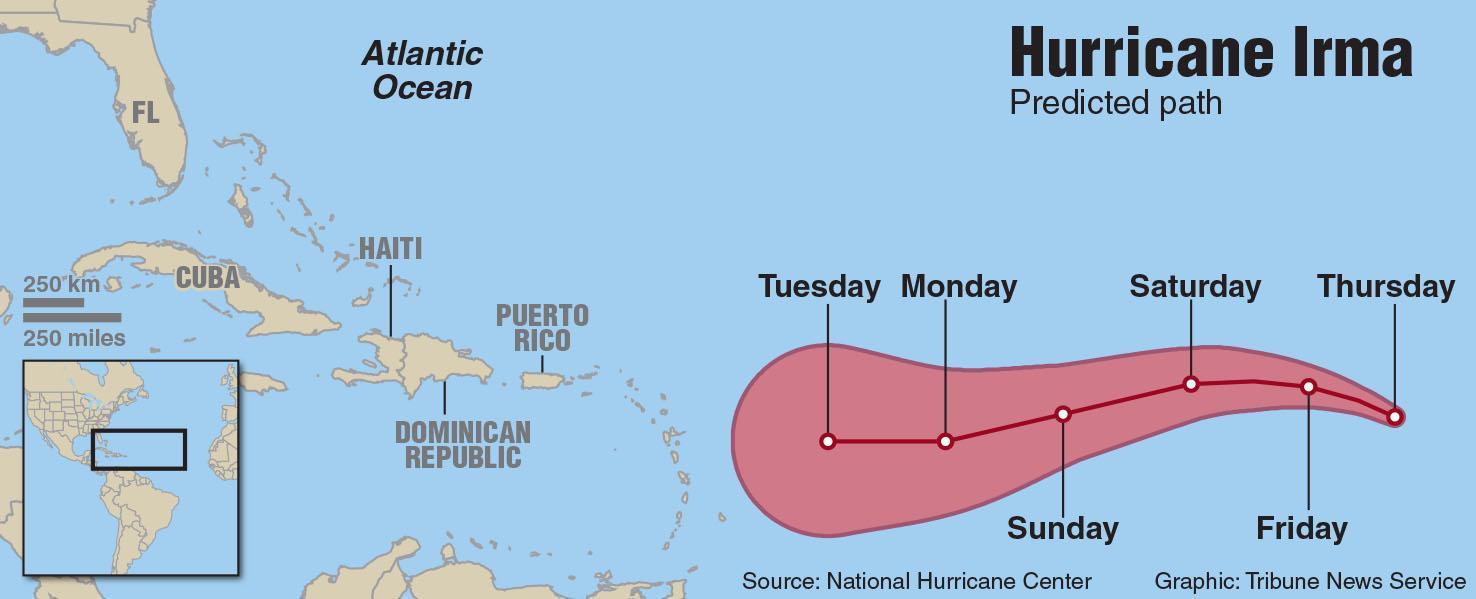 hight resolution of map of hurricane irma davis tribune news service