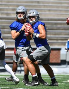 Wsu graduate transfer quarterback gardner minshew center looks to throw with also grip on sports you can call it  depth chart or two deep rh spokesman