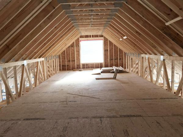 Builder Pre-fab Truss Systems Make Room Attic And Access Stairs Spokesman