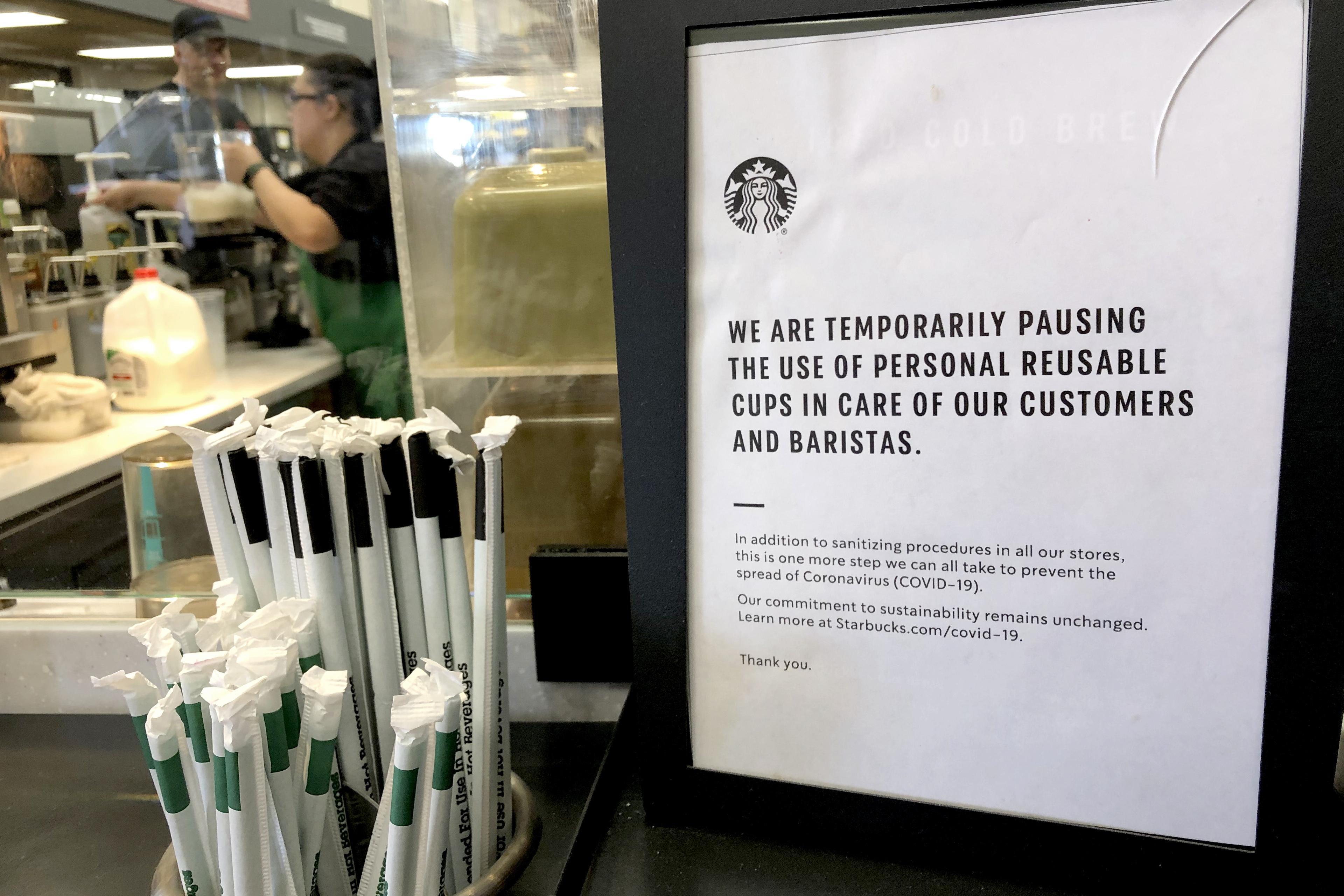 Starbucks to close some cafes to stop spread of coronavirus, move ...