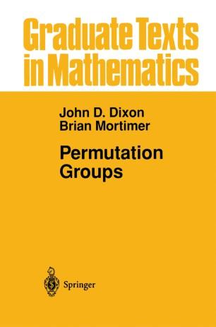 Permutation Groups   SpringerLink
