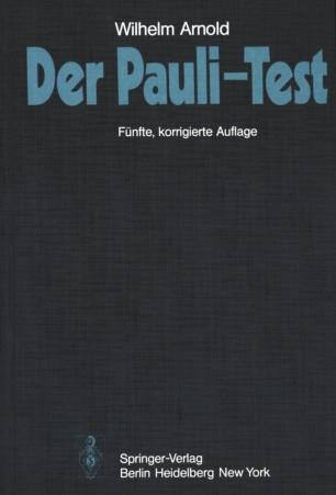Pauli Test Pdf : pauli, Pauli-Test, SpringerLink