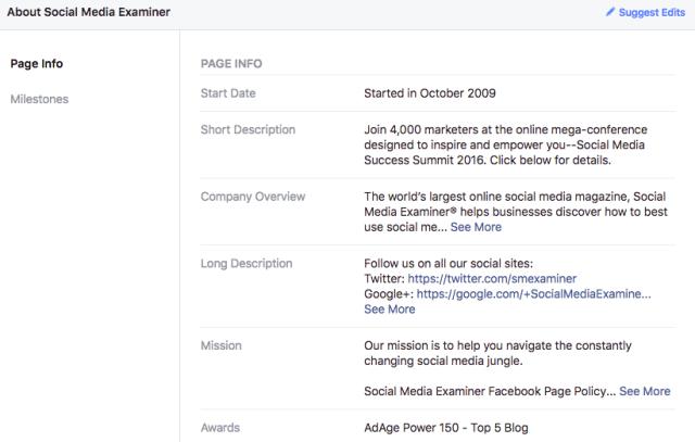 social media examiner example