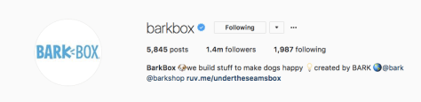 barkbox instagram bio
