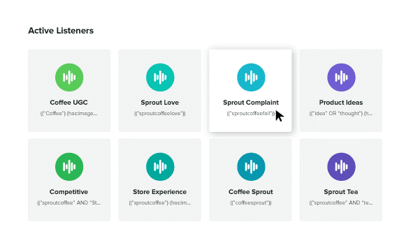 Example of the Sprout Social Listening feature