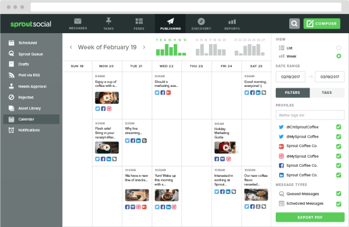 social media for retail means publishing to multiple platforms at the same time - Sprout can help with that