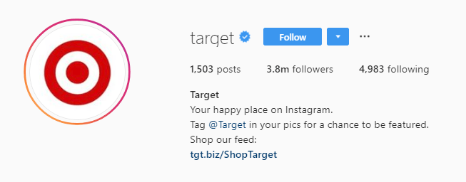 Retail giants like Target encourage followers to share user-generated content