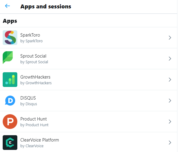 You can verify third party apps connected to your Twitter app to avoid hacks