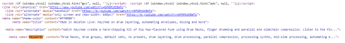 YouTube SEO keyword tags