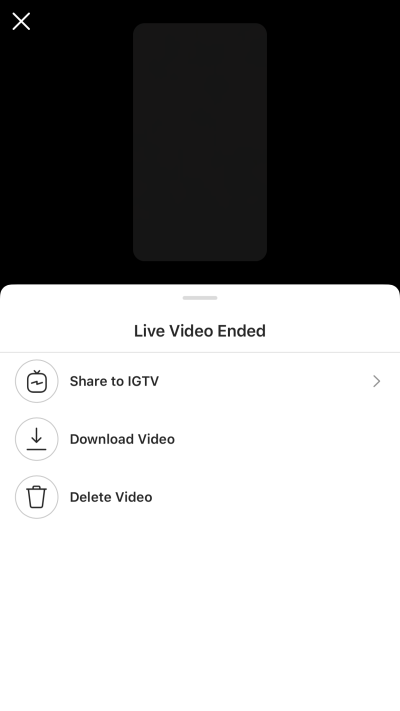 instagram live - when you end your video, you can share your livestream to IGTV or download it.