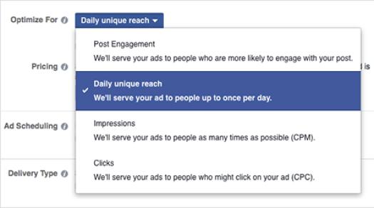 social media advertising goals
