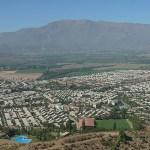 Vy över staden. Los Andes