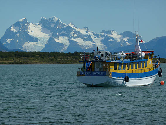 Vy från Puerto Natales