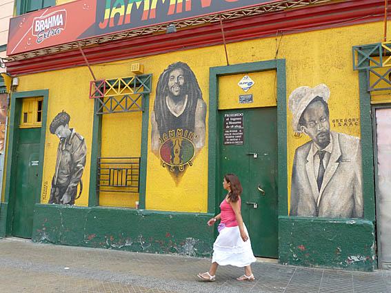 Muralmålningar. Santiago