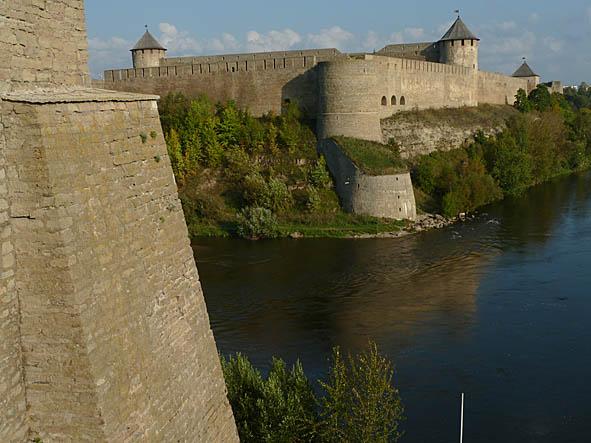 Fästningen Ivangorod. Ryssland