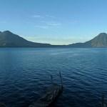 Tidig morgon vid Lago de Atitlan
