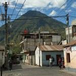 Stadsvy. Santiago de Atitlan