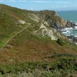Vandringsled på norra Guernsey