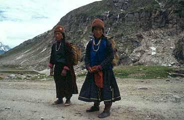 Kvinnor från Zanskar. Lahaul