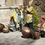Musiker vid stadsporten