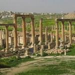 Romerska ruiner. Jerash