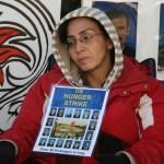 Hungerstrejkande kvinna. Ottowa