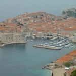 Vy över gamla staden. Dubrovnik (U)