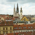 "Vy över ""Gamla staden"". Zagreb"