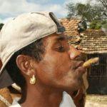 Man med cigarr. Trinidad