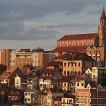 Vy över Haute Ville. Antananarivo
