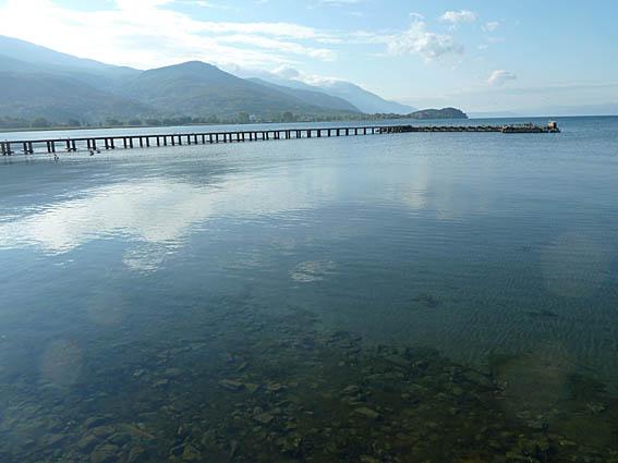 Vy över sjön Ohrid. Ohrid (U)
