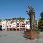 Statyn av St Kliment. Ohrid (U)