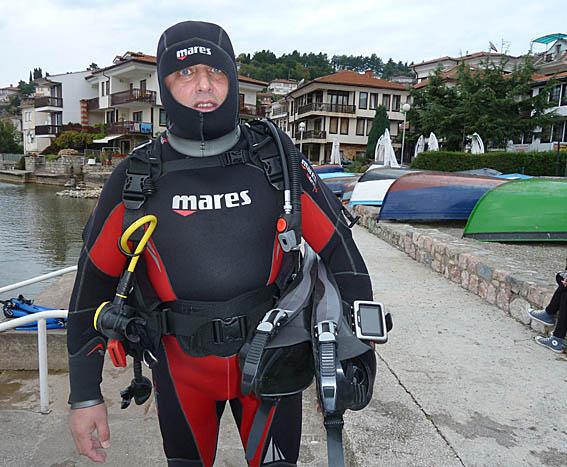 Den turkiske dykarchefen. Ohrid