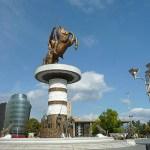 Statyn på Alexander den Store. Skopje