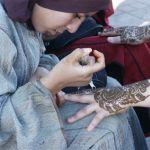 Hennamålning. Marrakech