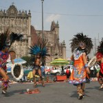 Dansare vid katedralen. Mexico City (U)