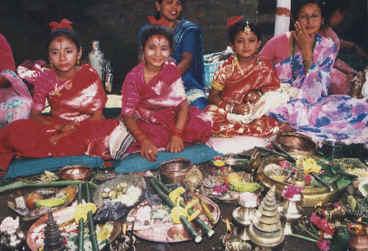 Kumarfestivalen. Pokhara