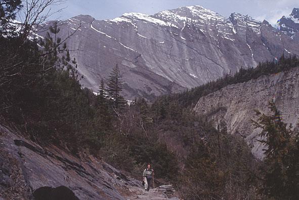 Bergväggen vid Paungadanda