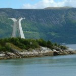 Vikingamonumentet. Hjörungavåg
