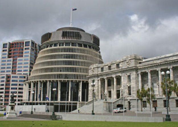 Gamla och Nya Parlamentet. Wellington