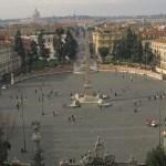 Vy över Piazza del Popolo (U)