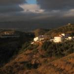 Landskap i solnedgång. Vid El Torcal
