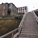 Trappan till byn. Barentsburg